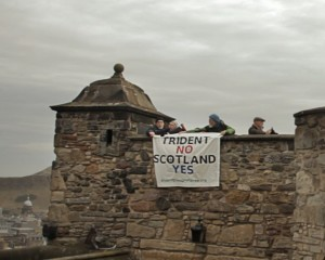 YES to SCOTLAND, NO to TRIDENT at Edinburgh Castle on St Andrews Day