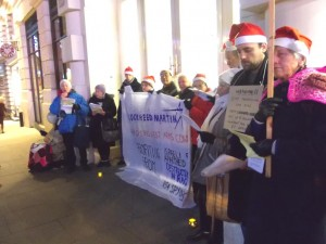 Calroling at Lockheed Martin Seasonal Songs with relevant words