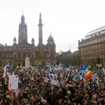 george square crowd