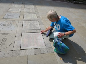 15 Morag adding in Edith Cavell