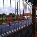 A red line going up round AWE Burghfield, saying NO to Trident, and any replacement.