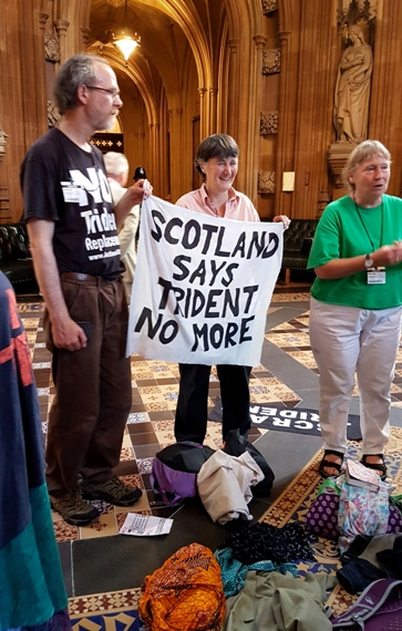 TP Occupation of Parliament on the day of Trident replacement vote